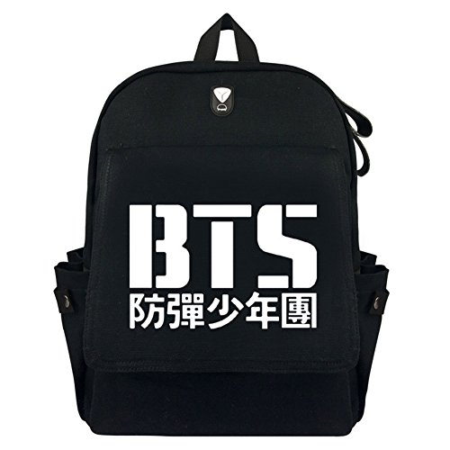 Kingmia BTS Rucksack Daypack Wasserdicht Leinwand Schulter Rucksack Anti-Falten Laptop Notebook Rucksack Verursacht Handtasche für Die Reise Schule H03