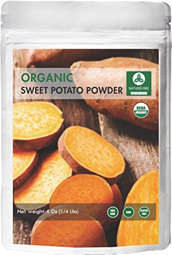 - Naturevibe Botanicals Organic Sweet Potato Powder (4oz) Ipomoea Batatas | Non-GMO and Gluten Free | Supports Digestion and Weight Loss ...