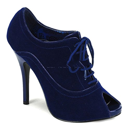 Bordello - Zapatos de vestir para mujer azul azul