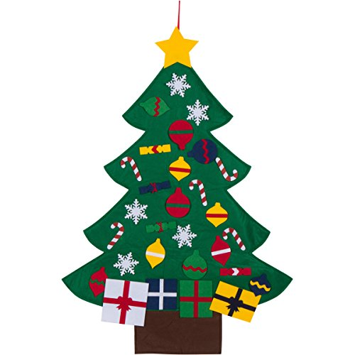 3ft Felt Christmas Tree Set With Ornaments