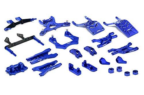 (Integy RC Model Hop-ups T8651BLUE Billet Machined T3 Complete Suspension Kit for 1/10 Stampede 2WD)