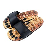 Acupuncture Points Foot Massager Slipper Foot Healthy Shoes Nature Stone Reflex for Men and Woman