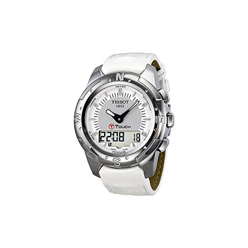 (Tissot T-Touch II Multi-Function Silver Dial Titanium Ladies Watch T047.220.46.086.00)