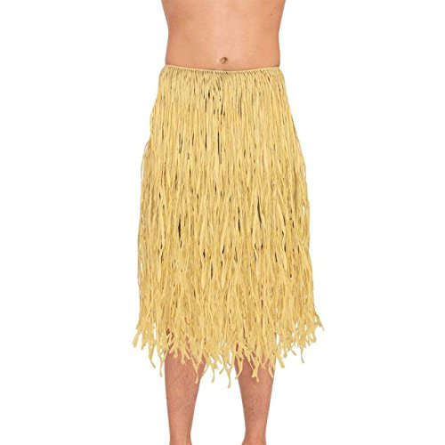 Amscan Hawaiian Summer Luau Party Adult Hula Skirt (1 Piece), Brown, 31.5 x 7.3/X-Large