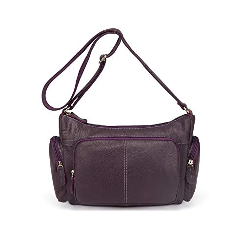 Genuine Leather Women Messenger Bags Female Small Shoulder Handbags Bags For Ladies,Violet