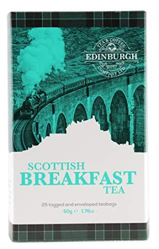 - Edinburgh Tea & Coffee Company Scottish Breakfast Tea - 25 Count (Envelope/Tagged), 1.76 Ounce