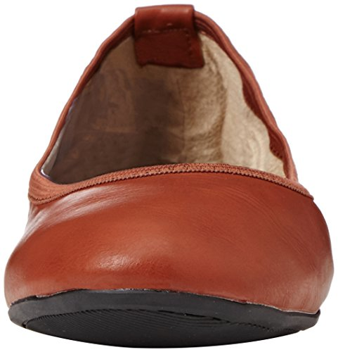 Brown Butterfly Fermé Sophia Femme chestnut Bout Marron Ballerines Tan Twists 77TwPvq1