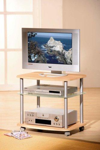Links 50200300 Mannini Tv Wagen Mdf Ahorn Glas Metall 60x55x45 Cm