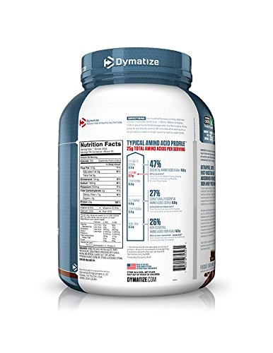Dymatize ISO 100 Whey Protein Powder Isolate, Fudge Brownie, 3 lbs