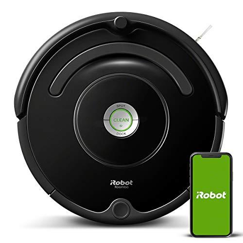 iRobot – Robot aspirador Roomba 671 conectado a WIFI, Para alfombras y suelos, Tecnología Dirt Detect, Sistema limpieza…