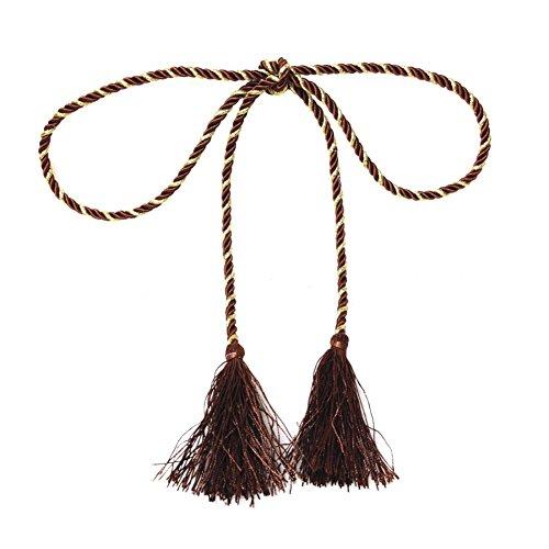 Weixinbuy Fancy Wrap Cotton Rope Window Lines Room Curtain Fringe Tassel -