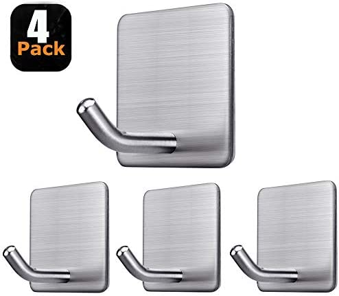 Fotosnow Adhesive Hangers Bathroom Cabinet Stainless