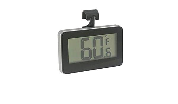 Digital nevera congelador Termómetro con parte posterior magnética, MINI nevera termómetro de habitación resistente al agua - fácil de leer y diseño de ...
