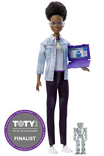 Barbie Métiers de l'année, poupée ingénieure en robotique brune avec coupe afro, jouet pour enfant, FRM10