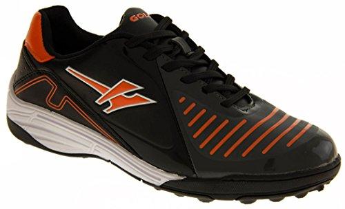 Footwear Studio - Botas de fútbol para niño negro - Black & Orange
