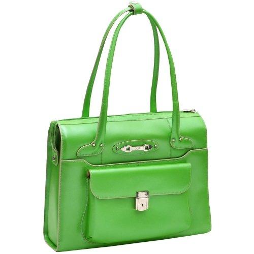 [McKleinUSA WENONAH 96661 Green Leather Ladies' Briefcase] (Italian Leather Ladies Briefcases)