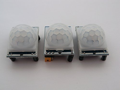 3 of HC-SR501 PIR Motion Detection modules for Raspberry Pi or Arduino. Comes with a GPIO wiring card for Pi by TR Computers