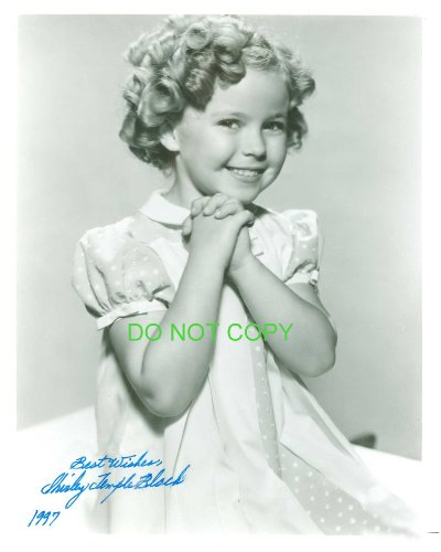 Shirley Temple child star reprint SIGNED photo RP #2