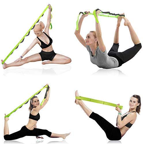 Onory Yoga Strap Stretch Straps for Physical Therapy with Exercise Booklet /& Carry Bag Non-Elastic Multi Loops