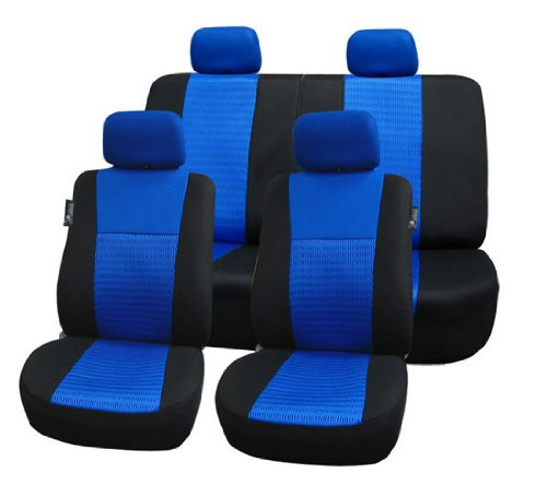 FH-FB060114 Trendy Elegance Car Seat Covers, Airbag compatible and Split (Colts Car Seat Cover)