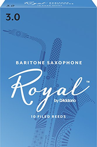 Royal Baritone Sax Reeds, Strength 3.0, 10-pack