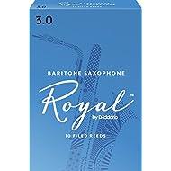 Royal by D'Addario Baritone Sax Reeds, Strength 3.0, 10-pack