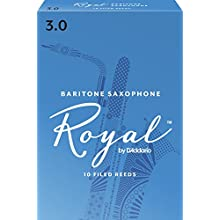 Royal by D'Addario Baritone Sax Reeds, Strength 3.0, 10-pack