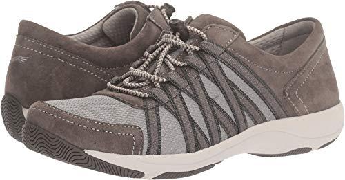Dansko Women's Honor Fashion Sneaker, Charcoal Suede, 6.5-7