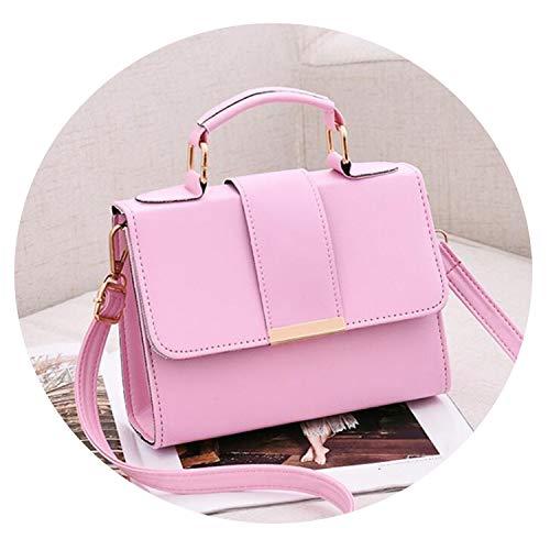 Women Bag Leather Handbags PU Shoulder Bag Small Flap Crossbody Bags fors,pink,20x15x6cm