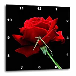 3dRose Red Rose - Wall Clock, 13 by 13-Inch (DPP_3651_2)