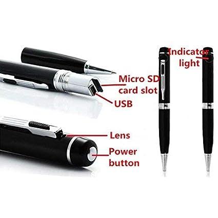 Cámara espía cámara espía con cámara 1080p cámara espía HD con Tapa de Lente, cámara de 16 GB Micro SD integrada y Lector Micro SD y 5 tintas Inc, ...