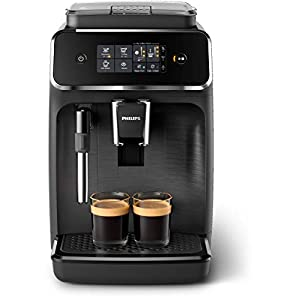 Philips EP2220/10 Machine Espresso automatique Séries 2200 Mousseur à Lait Noir Mat