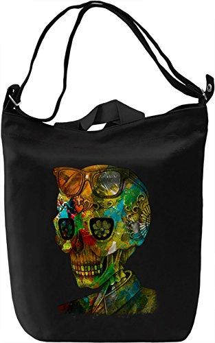 Summer Skull Borsa Giornaliera Canvas Canvas Day Bag| 100% Premium Cotton Canvas| DTG Printing|