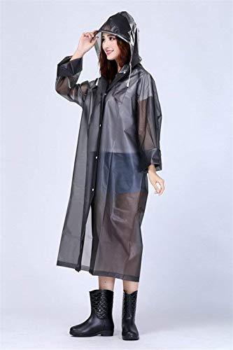 Fête Vêtements Capuchon Extérieur De Emmay Monochrome Imperméable Poncho Pluie Bicyclette Unisexe Grau Style wSvBXqvz