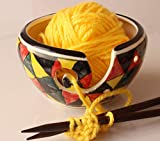 abhandicrafts - Yarn Bowl 6 inch for Knitting, Crochet for Moms, Grandmothers