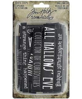 Tim Holtz Idea-ology Halloween Quote Chips ()