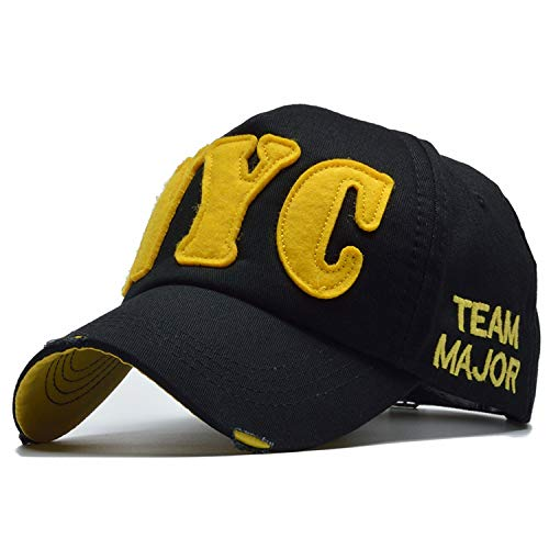 SINXE 2019 Fashion Casual Baseball Cap Women Cotton Casquette Bone Snapback Hats Caps Men NYC Letter Baseball Caps Black