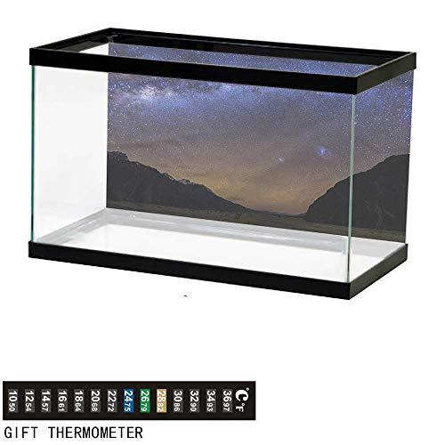 Suchashome Fish Tank Backdrop Star,Tasman Valley Mount Cook NZ,Aquarium Background,48