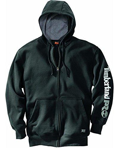 Timberland PRO Men's Hood Honcho Full-Zip Hooded Sweatshirt, Jet Black, ()