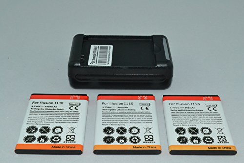 3 x 1800mAh Batteries and Charger for Samsung Compatible ...