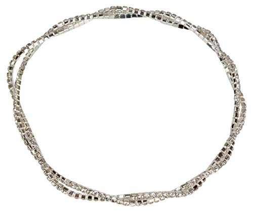 SPUNKYsoul Anklet Rhinestone Stretch Twisted for Women