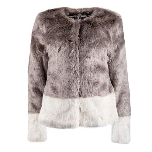 Mejor Faux Jacket White Fur Grey Women Mountain UgUfwxSz