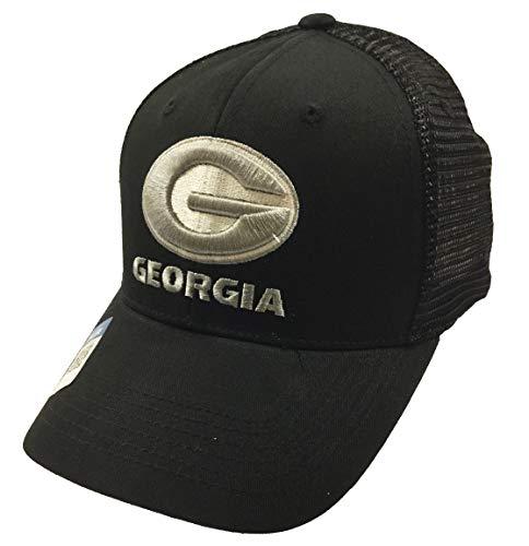 National Cap Georgia Bulldogs Predator Meshback Adjustable Black Hat ()