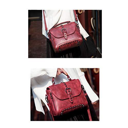 Bolso Bag Gran Mujer Shopper Tote De Black Pu Cuero Manobolso Fxdtk Capacidad La Hombro 1RYqfww