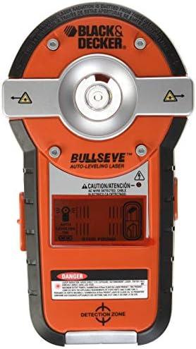 BLACK + DECKER BDL190S-CA BullsEye Auto-Leveling Interior Line Laser/Stud Sensor Combination Tool
