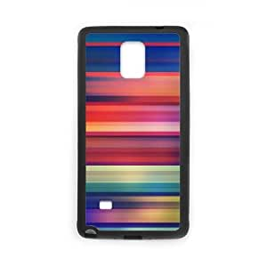 Samsung Galaxy Note 4 Cell Phone Case Black Colorful Stripes as a gift J2319497