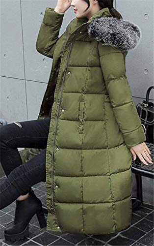 Eleganti Con Manica Lunga Screenes Outdoor Parka Vita Prodotto Piumino Plus Pelliccia Addensare Calda Armgrün Piumini In Giaccone Donna Invernali Invernale cappuccio Alta PXXpawq47