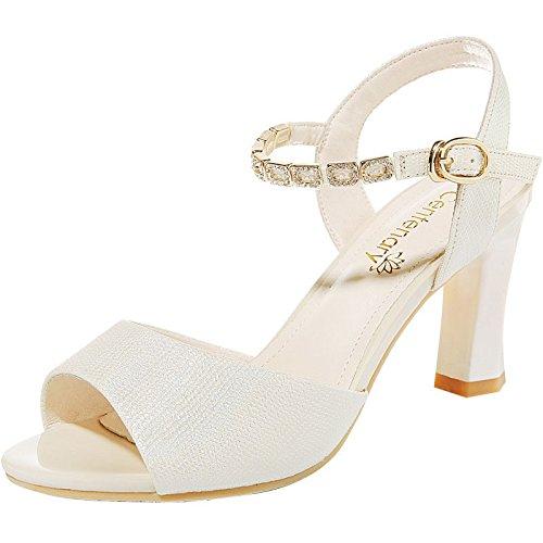 donna onorevoli alto sandali tacco alti RUGAI estate sandali da scarpe Tacchi poco tacchi UE freschi Golden 1qxw6BCf