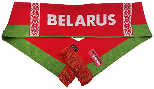 National Soccer Team Belarus International Soccer Scarf, Red, One Size