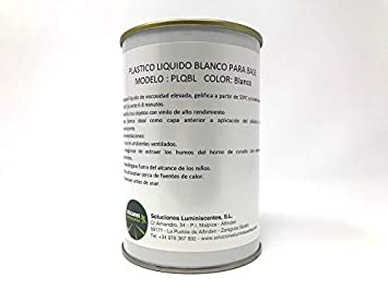 Plastico liquido termoendurecible blanco - Capacidad - 1 kg: Amazon.es: Bricolaje y herramientas